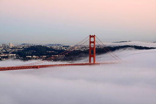 Golden Gate Bridge (San Francisco,California, USA) at sunset.