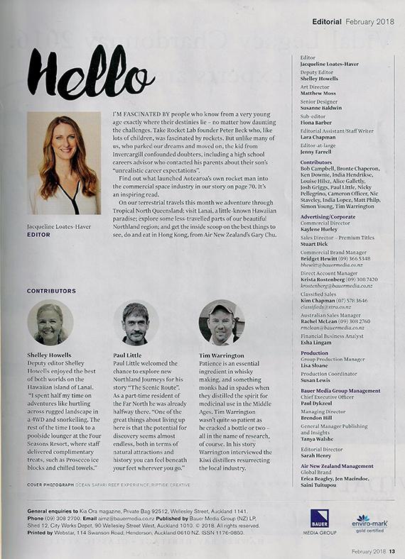Kia Ora Magazine - February 2018