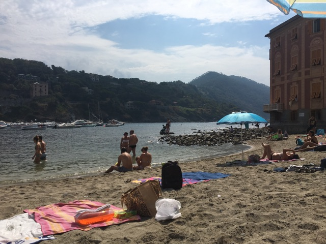 A view of the beach at Sestri Levante