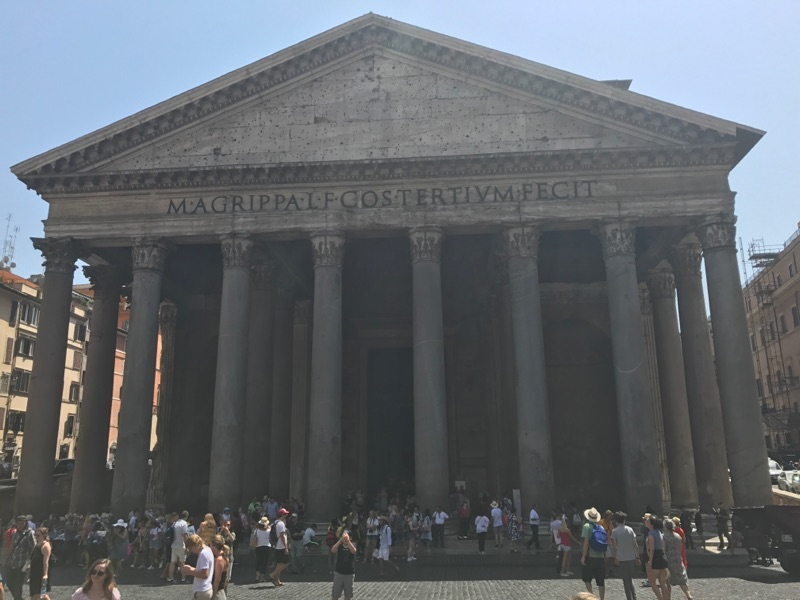 The Pantheon, one of Kasey's favorite historical sites in Italy