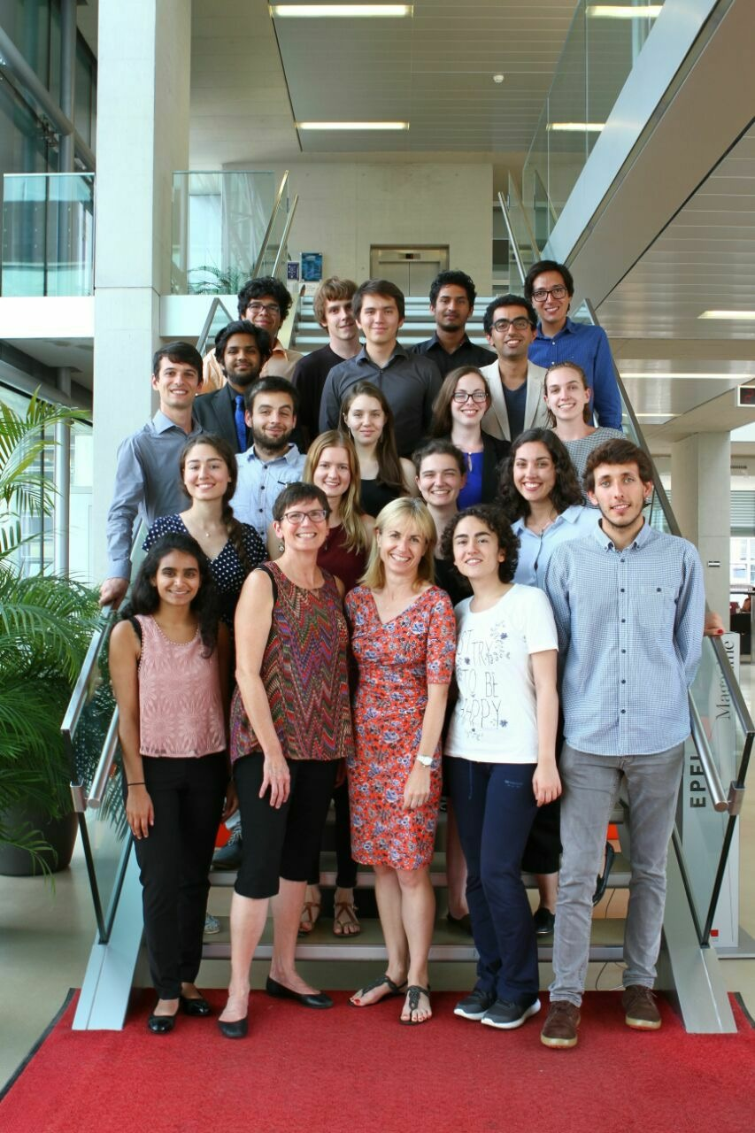 Students and coordinators at the author's summer research symposium.