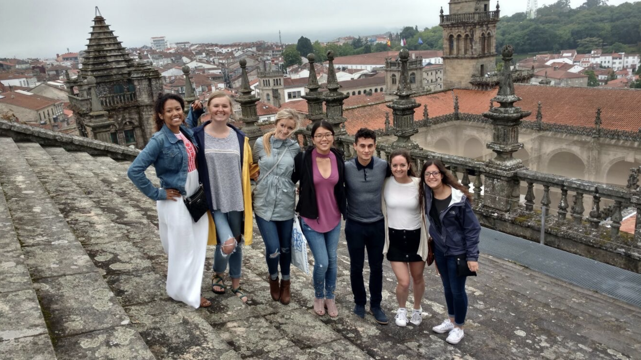 Us on the roof of the Santiago de Compostela Cathedral, overlooking the rest of the old city.