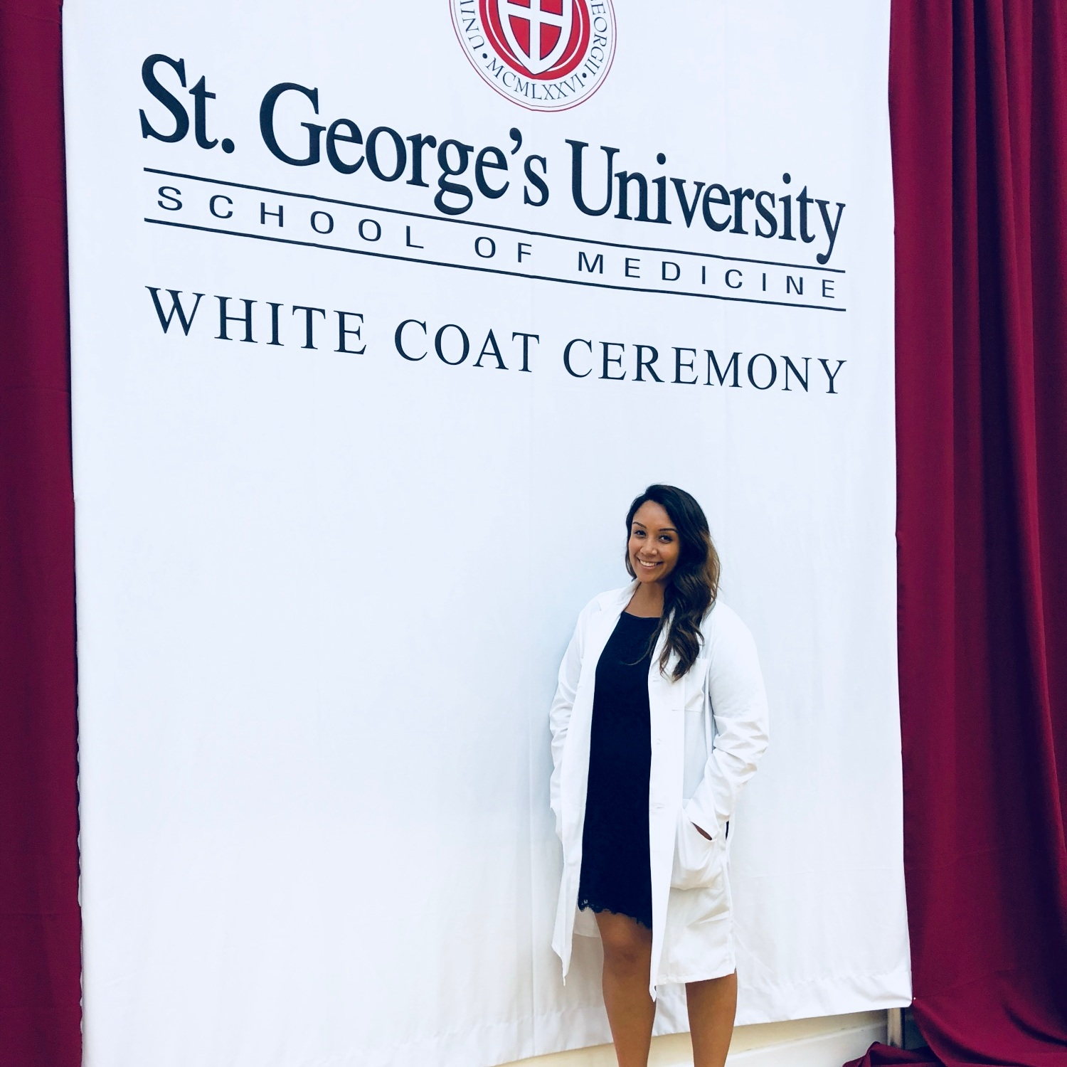 The official white coat ceremony at St. George's University School of Medicine!