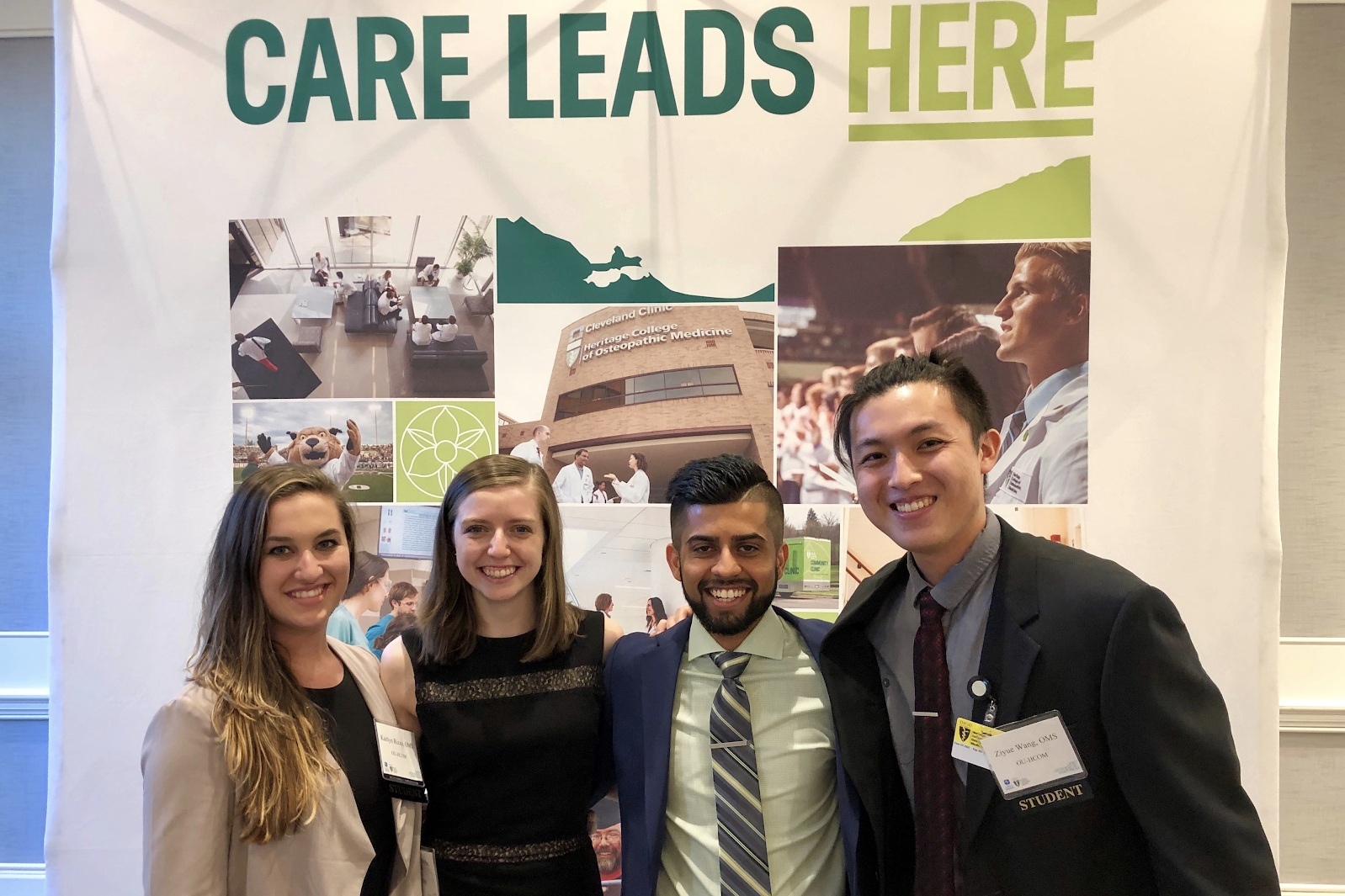 Kaitlyn and her peers at Ohio University Heritage College of Osteopathic Medicine.