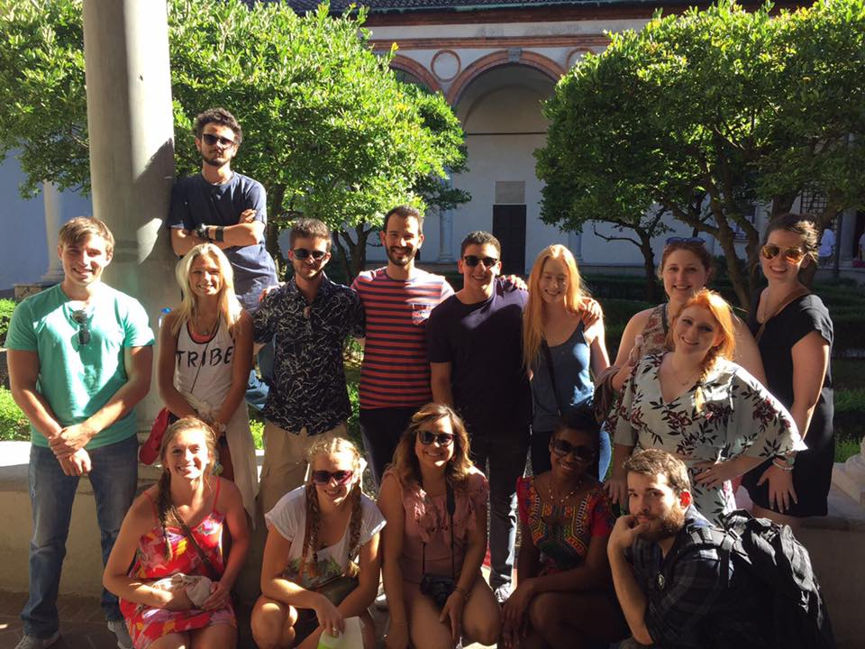 Michaela with her Atlantis cohort in Milan, Italy.