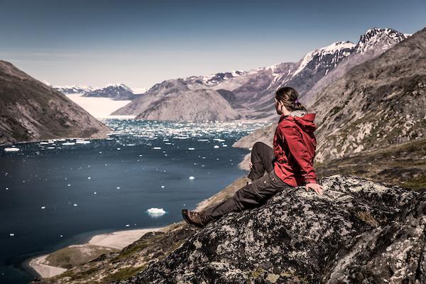 A hiker overlooking Qooroq ice fjord in South Greenland near Narsarsuaq.jpg