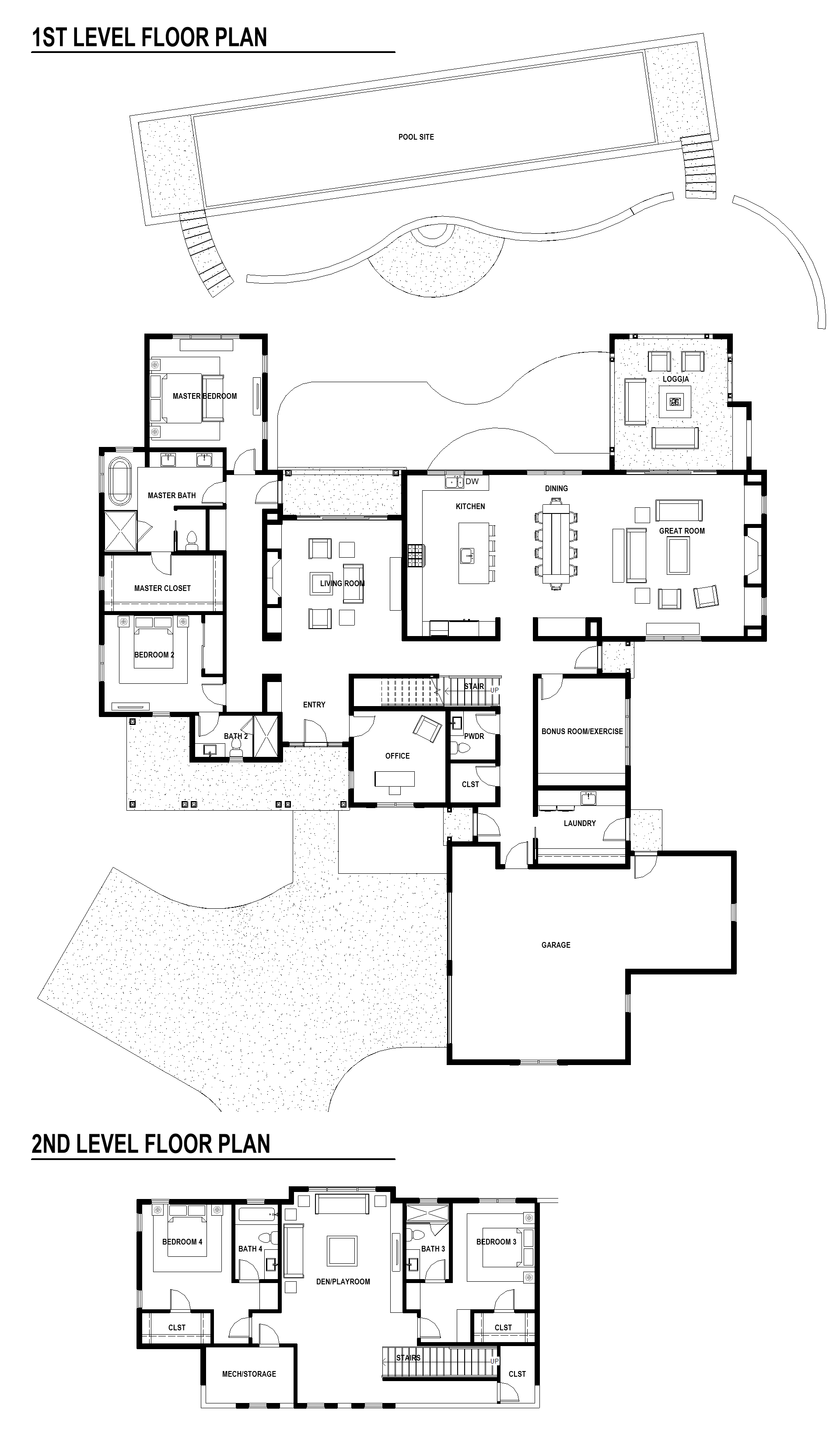 Luxury home floor plan | home site #4
