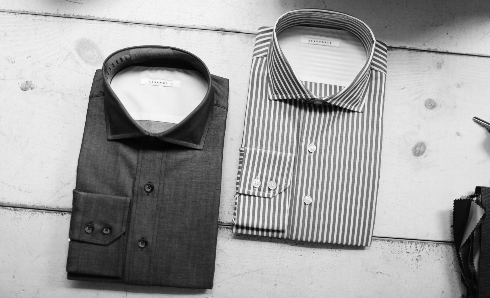 Shirting - Our shirts are made of soft, breathable and luxurious high weave cottons, and custom made for an ideal fit by artisan tailors. Each shirt is crafted to your measurements and finished with exacting attention to detail. Pricing starts at $195. Please allow 4 weeks for delivery.