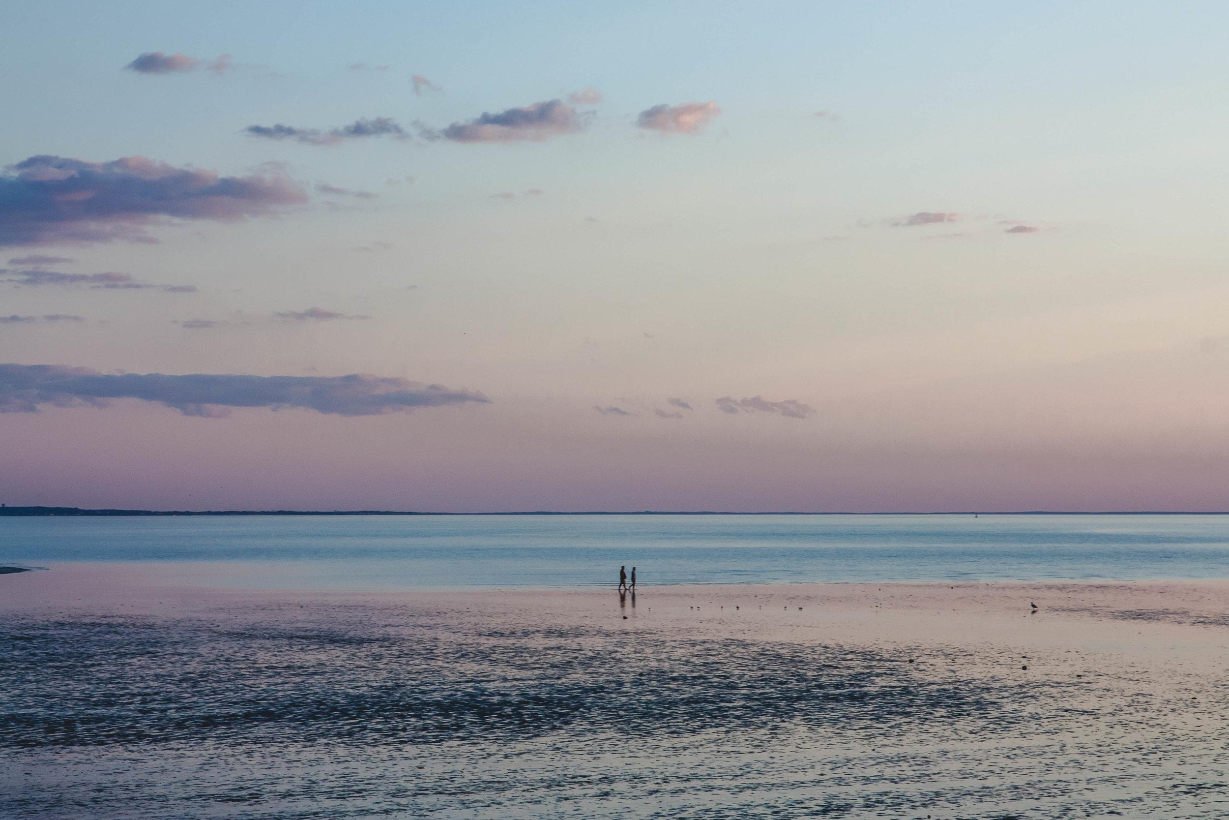 Walking On Water-Bayside On Cape Cod -