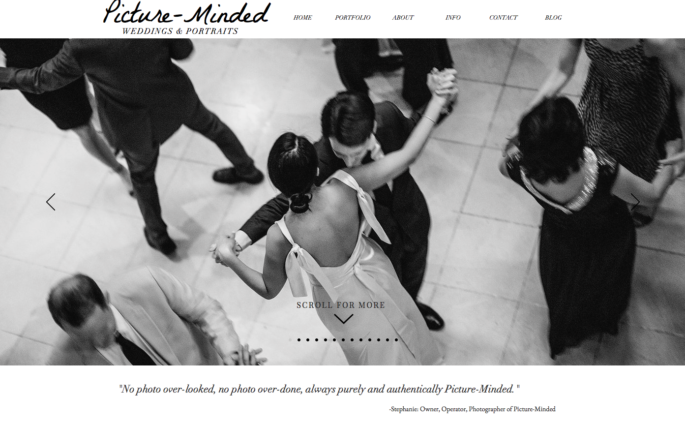 Website Refresh: Picture-Minded Weddings -