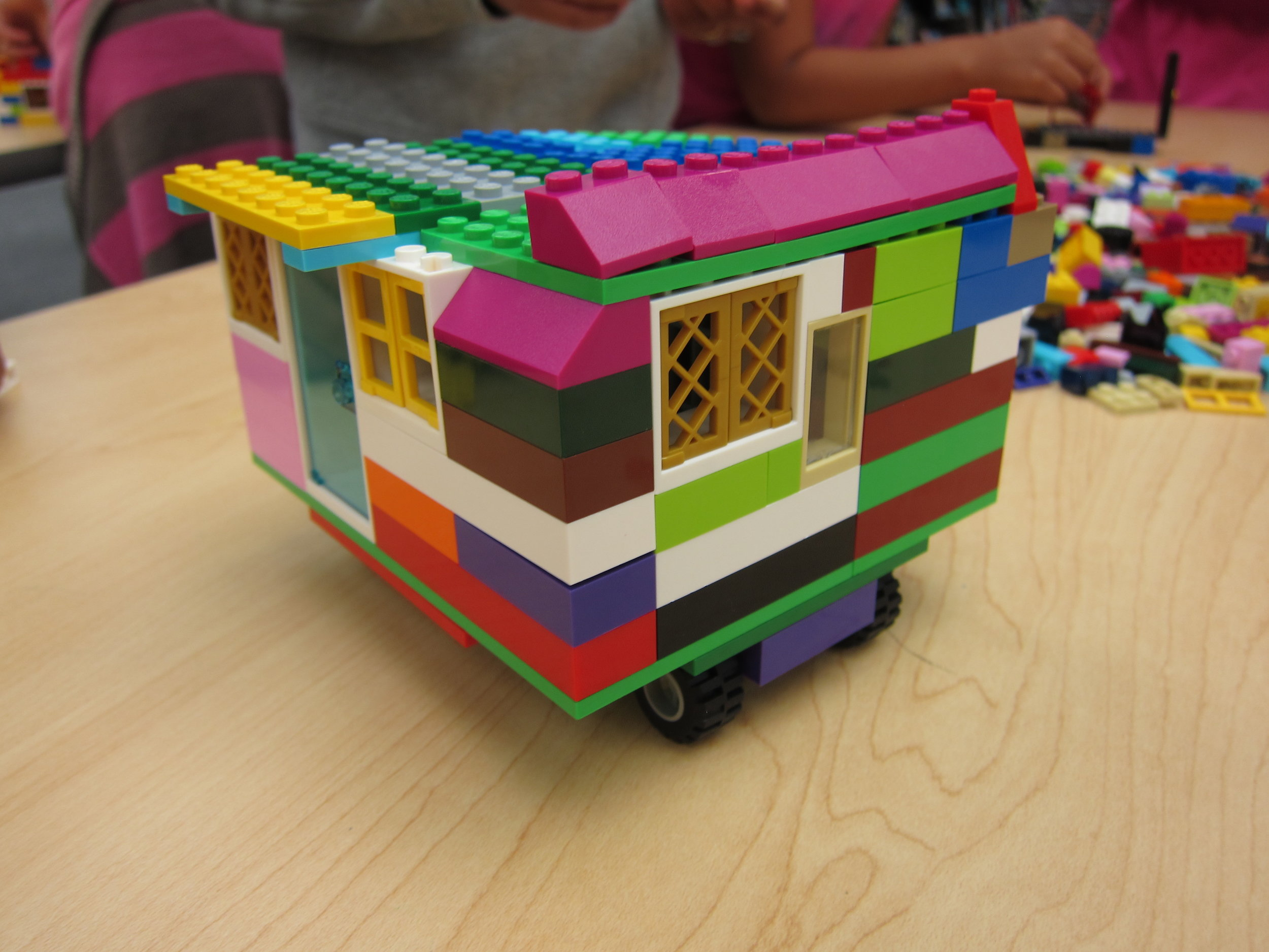 A Lego© house designed by one of the participants at Girl Empowerment Day 2017