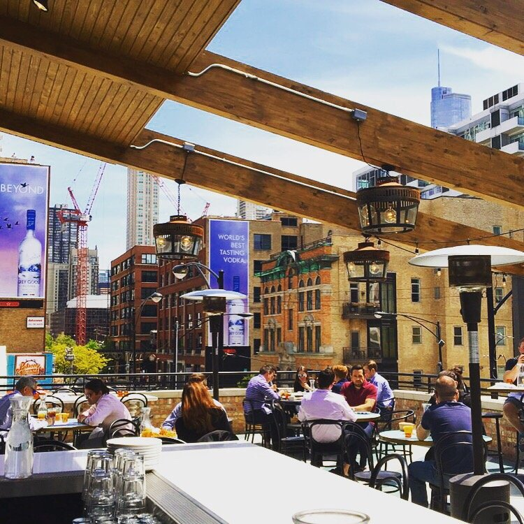 Bernie's Lunch and Supper - $$,River North, Mediterranean, Rooftop