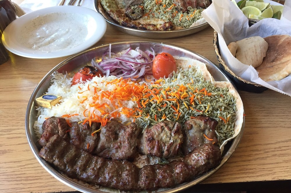 Kabobi - Persian and Mediterranean Grill - $, Mediterranean, Halal, Persian, Vegan, Vegetarian, Patio Doors, Delivery