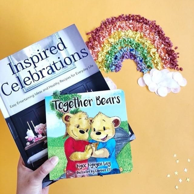 Thank you @ohshinypaperco for this photo! #togetherbearsbook #inspiredcelebrations