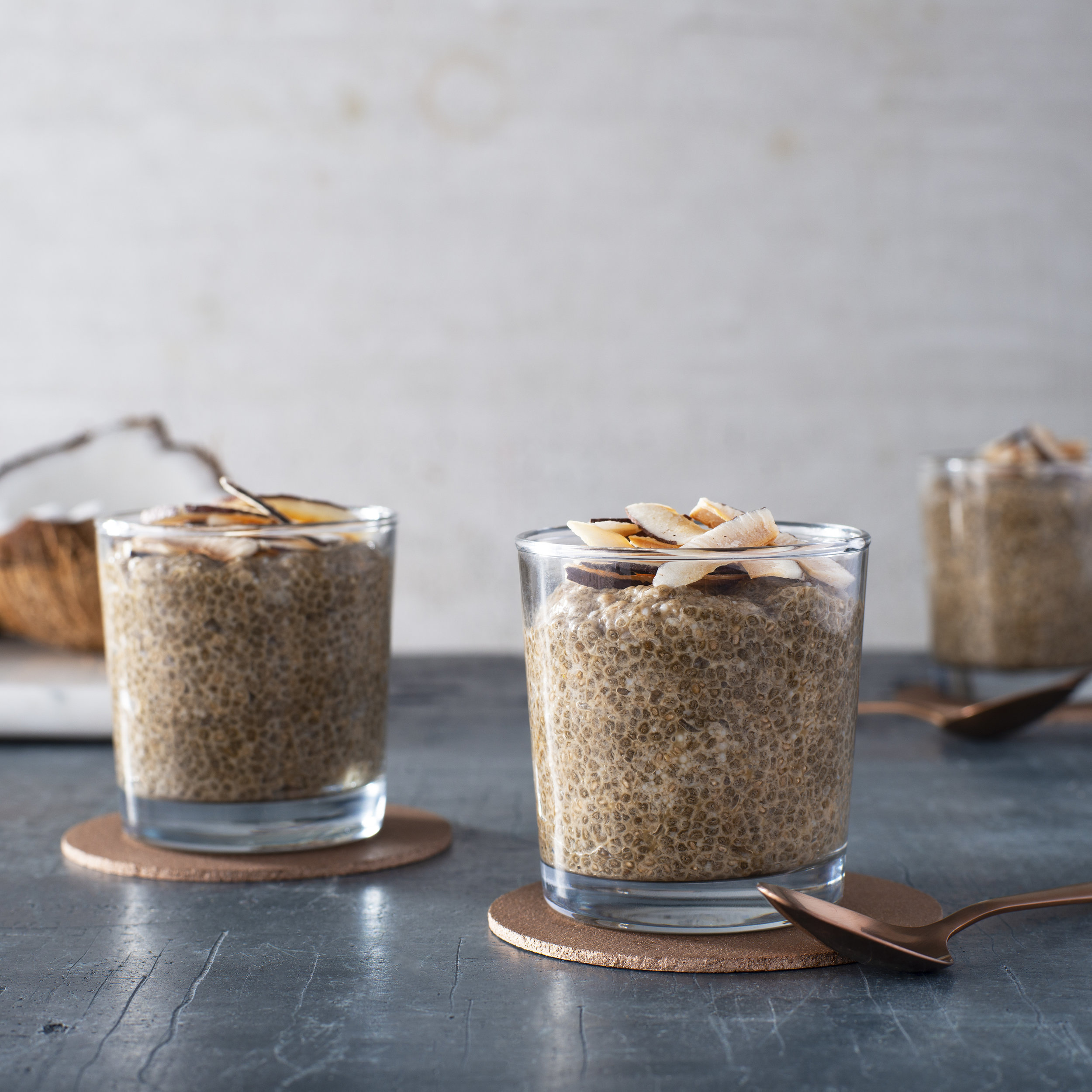 Cold Brew and Coconut Chia Pudding