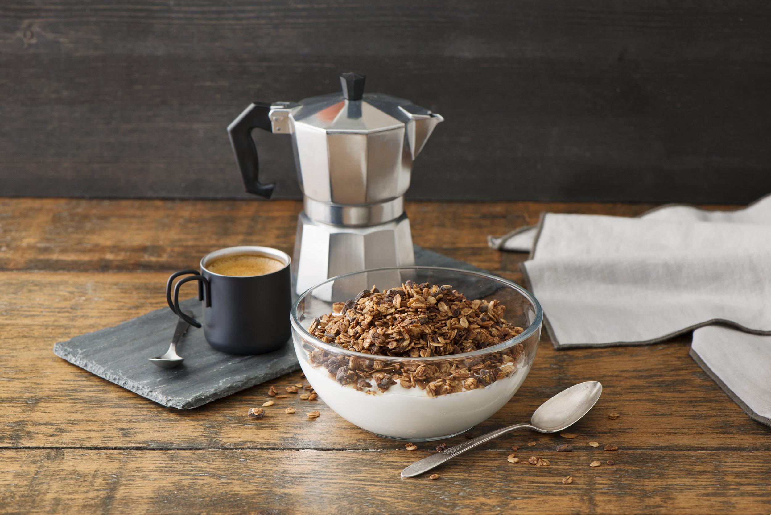 Espresso roast + chocolate granola