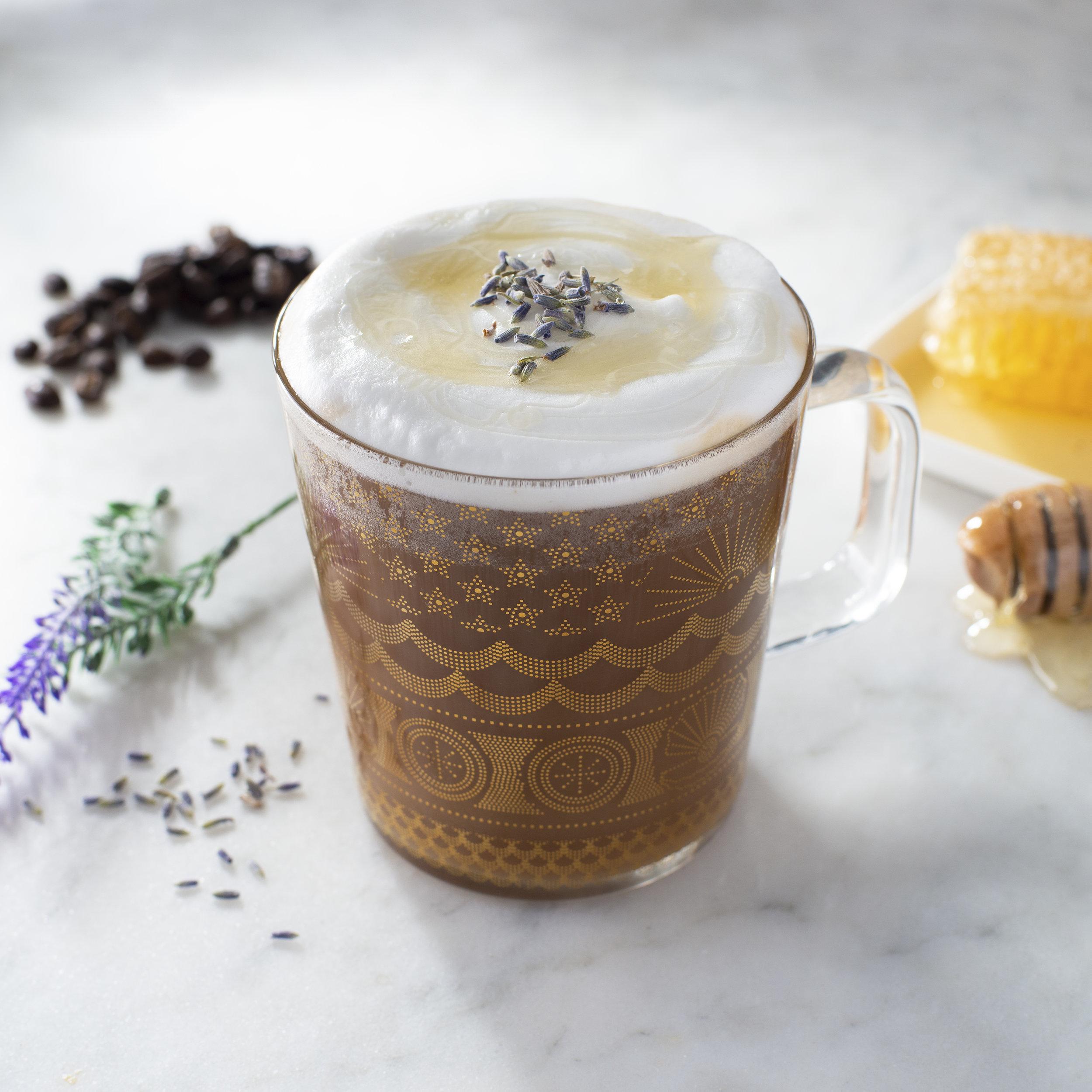 Honey and Lavender Latte