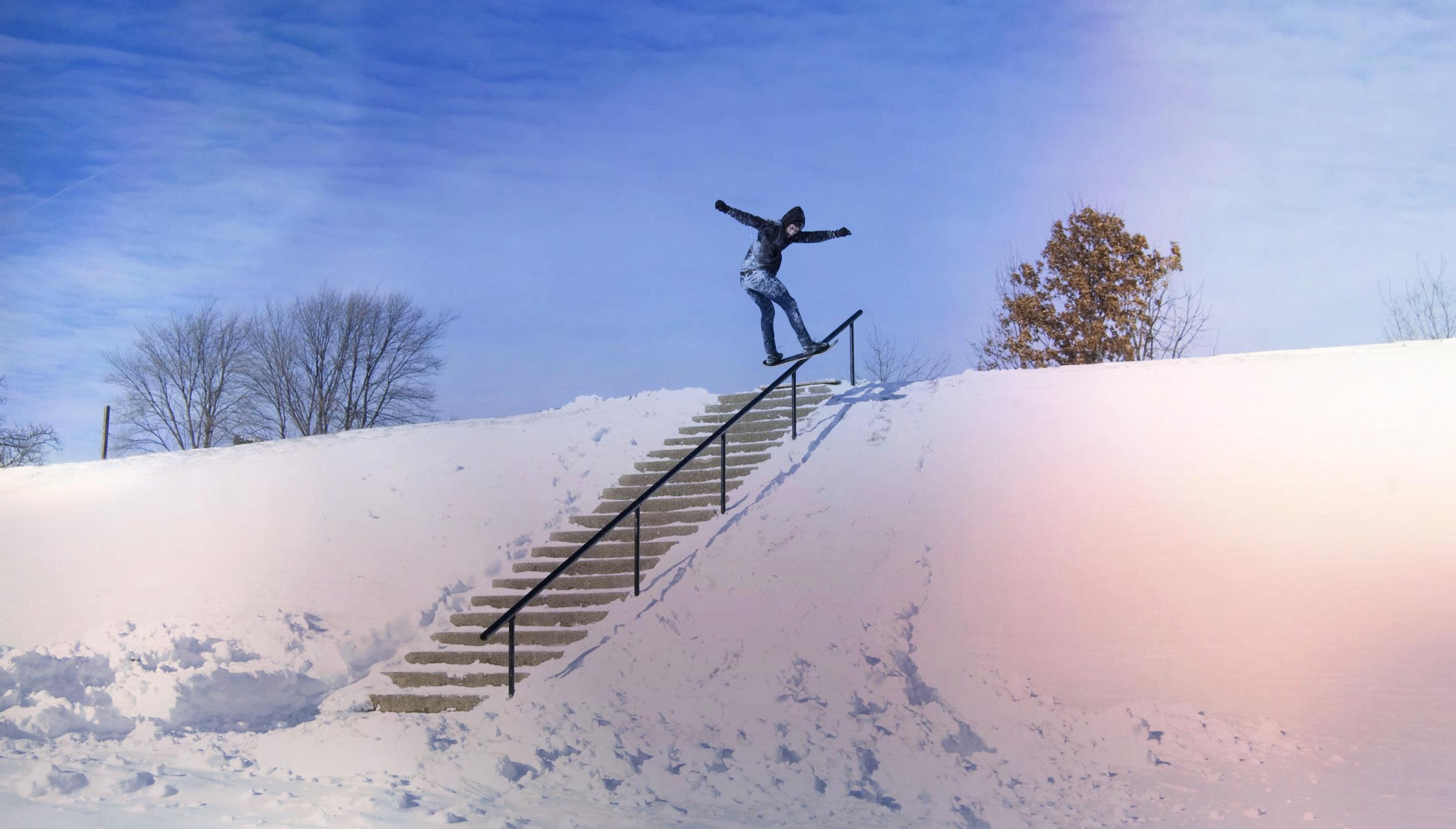 Snowskate Engerer 22 Handrail