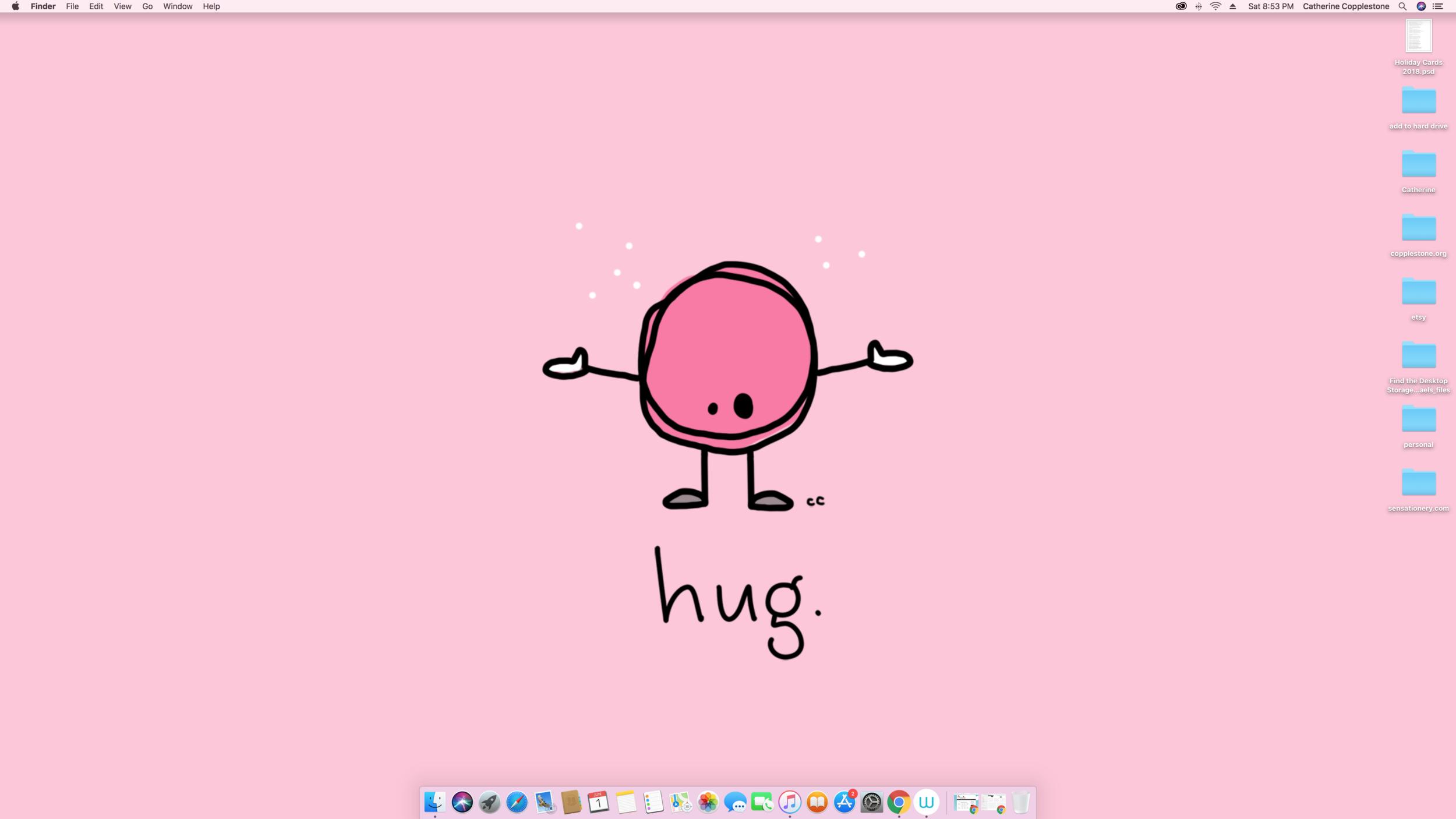 hug. -