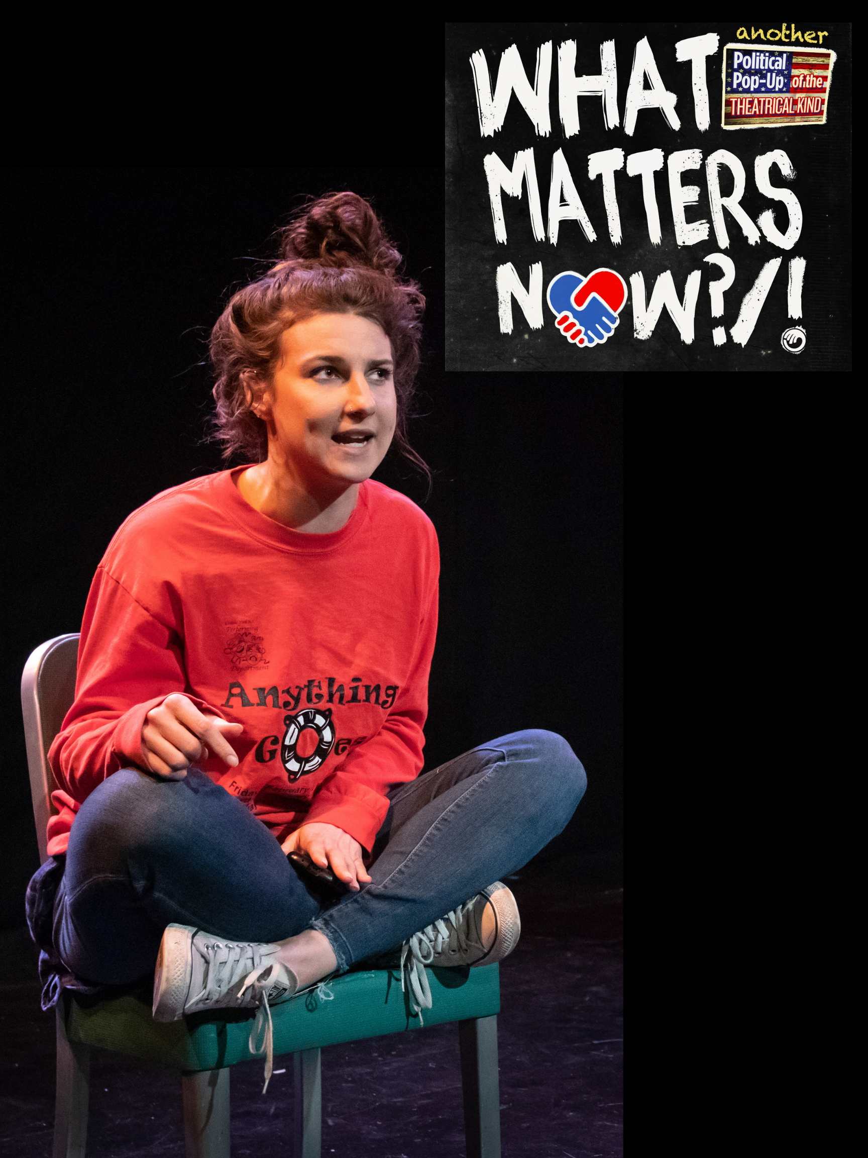 "Rave Reviews! - LA critics praise Caroline for her work as Rivvy in ""High School Intifada"" in Open Fist Theatre's show, WHAT MATTERS NOW?/!"