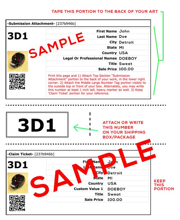 Sample ID Label