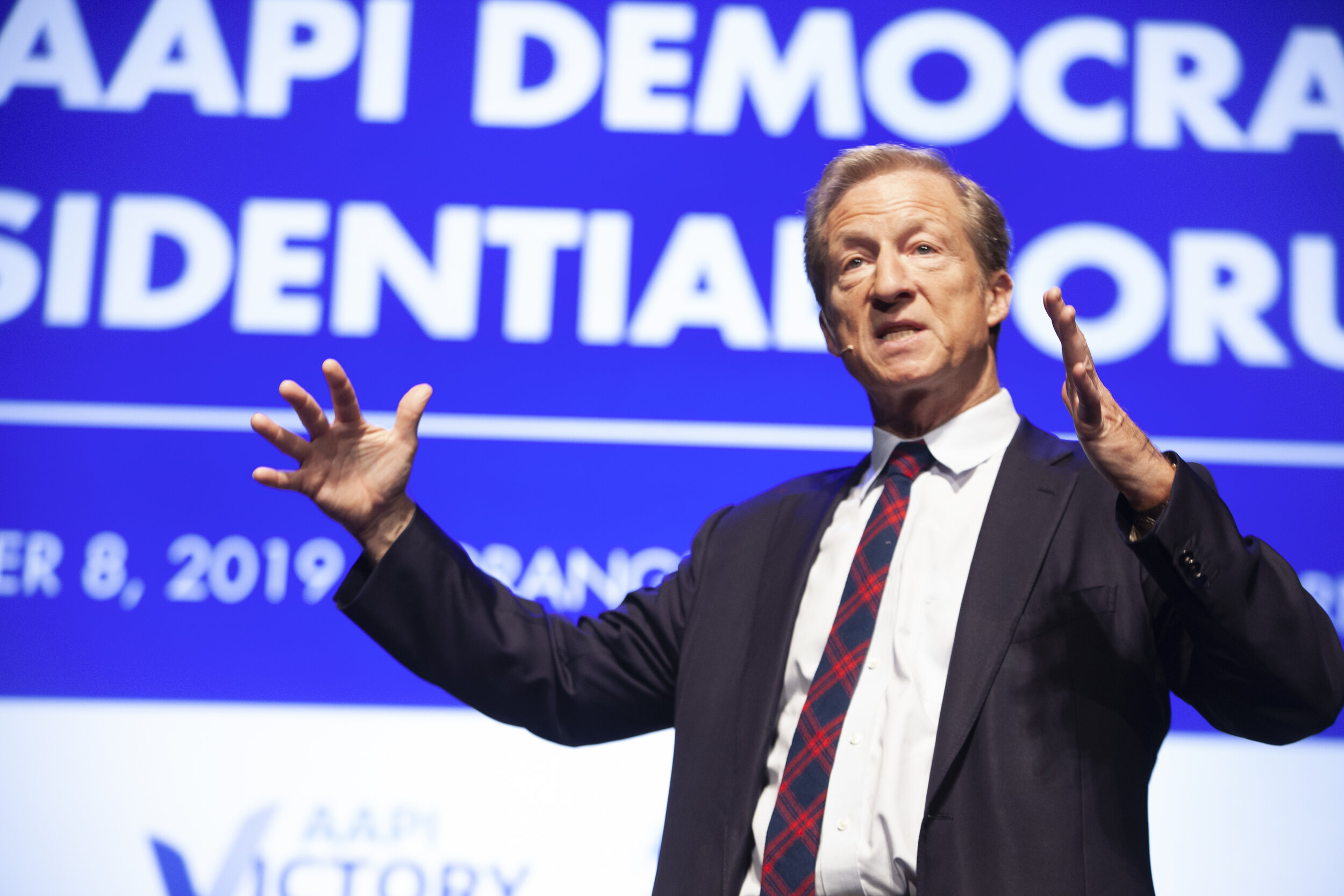 Presidential candidate Tom Steyer at the AAPI Democratic Presidential Forum.