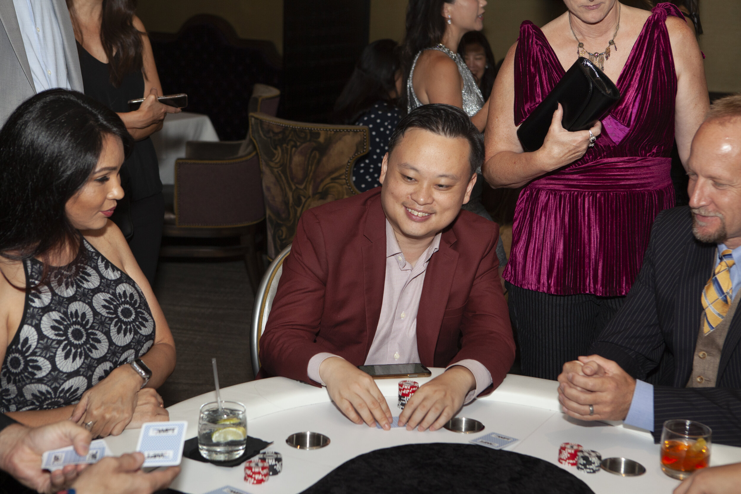 American Idol's William Hung plays poker at the AAPI Summer Soiree.