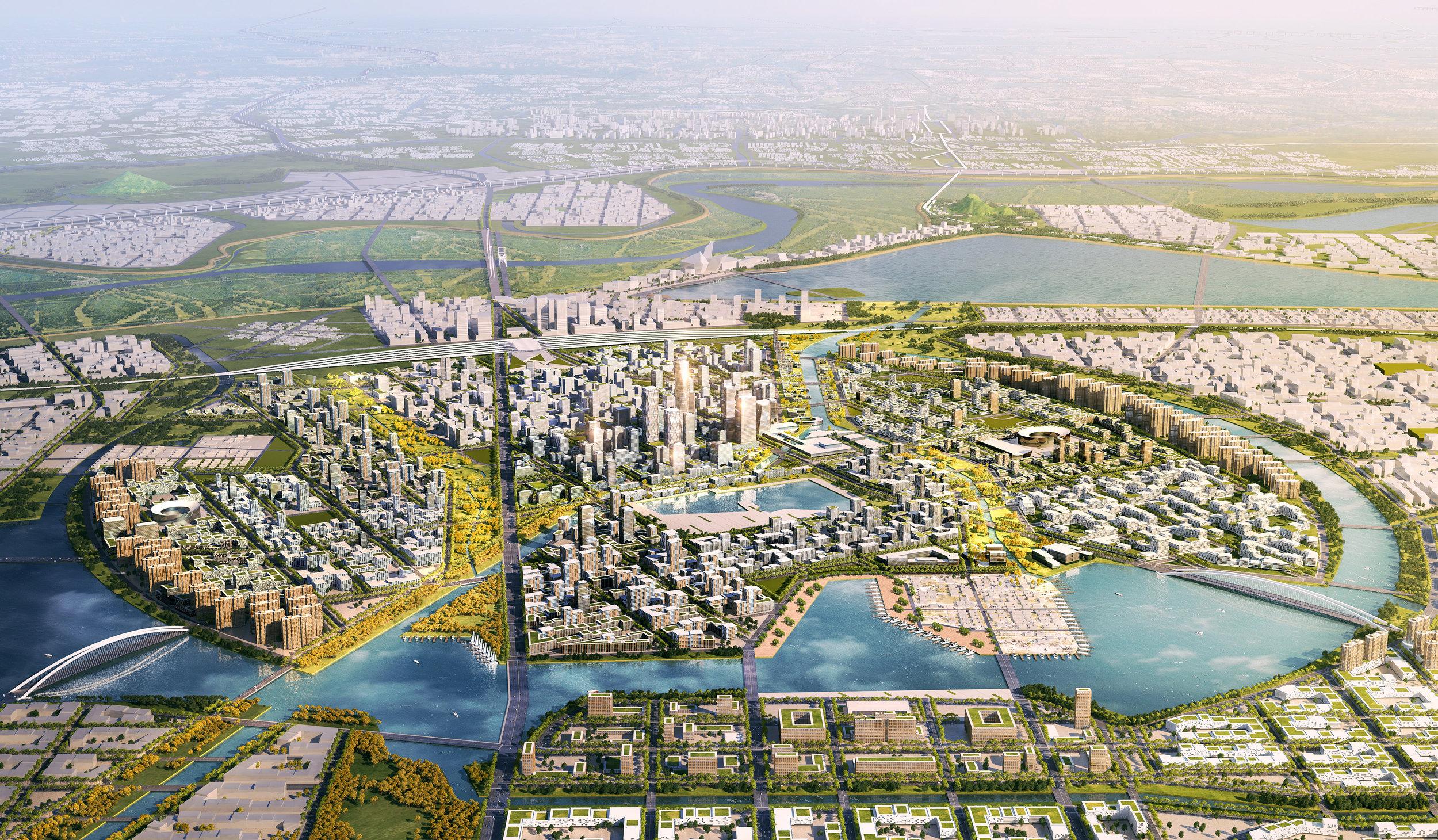.... JI'NAN RIVER NORTH MASTERPLAN..    济南携河发展空间规划与城市设计....