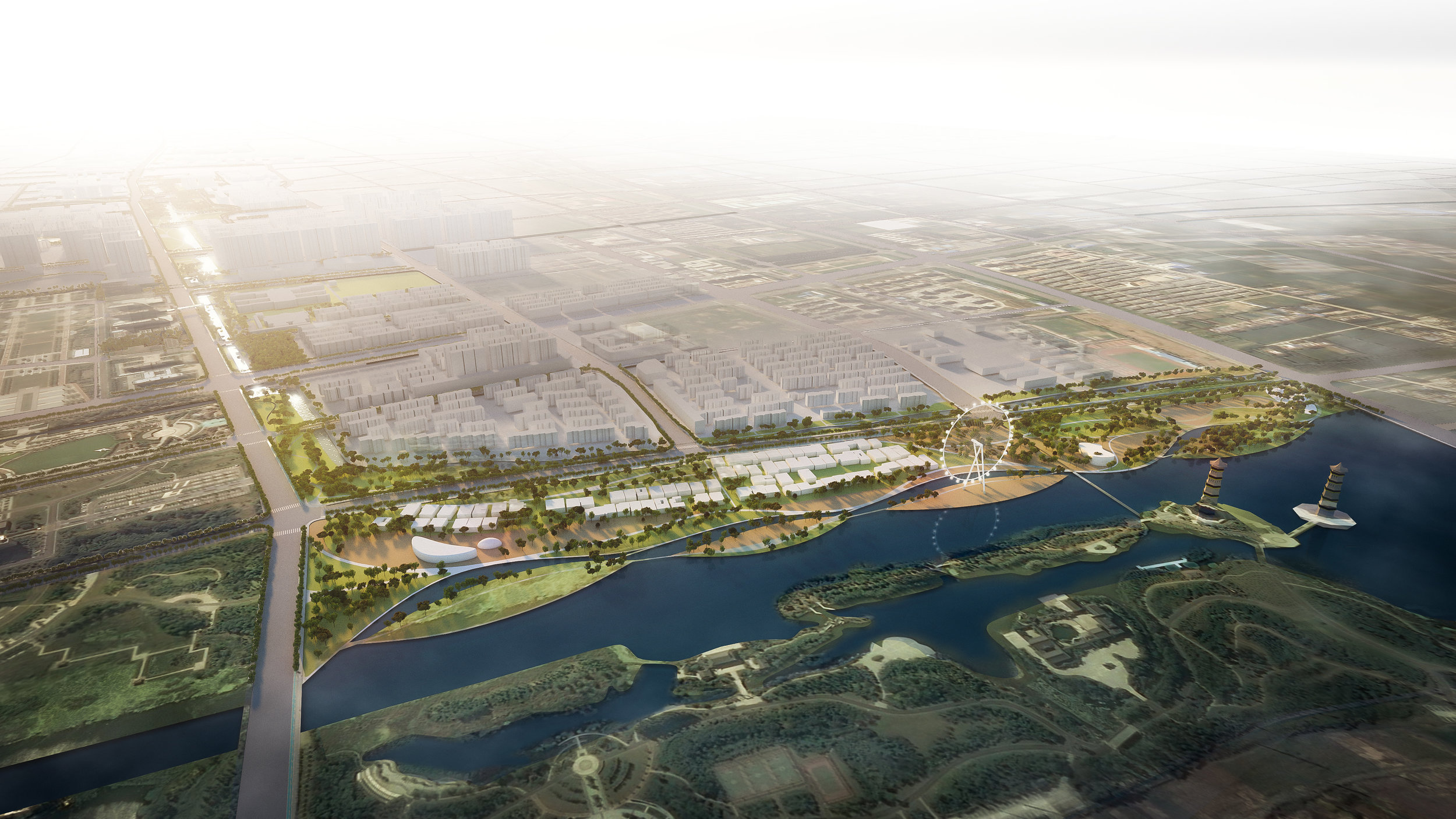 ....WEIMIN CANAL COMPETITION..    江苏宿迁为民河城市森林公园概念设计....