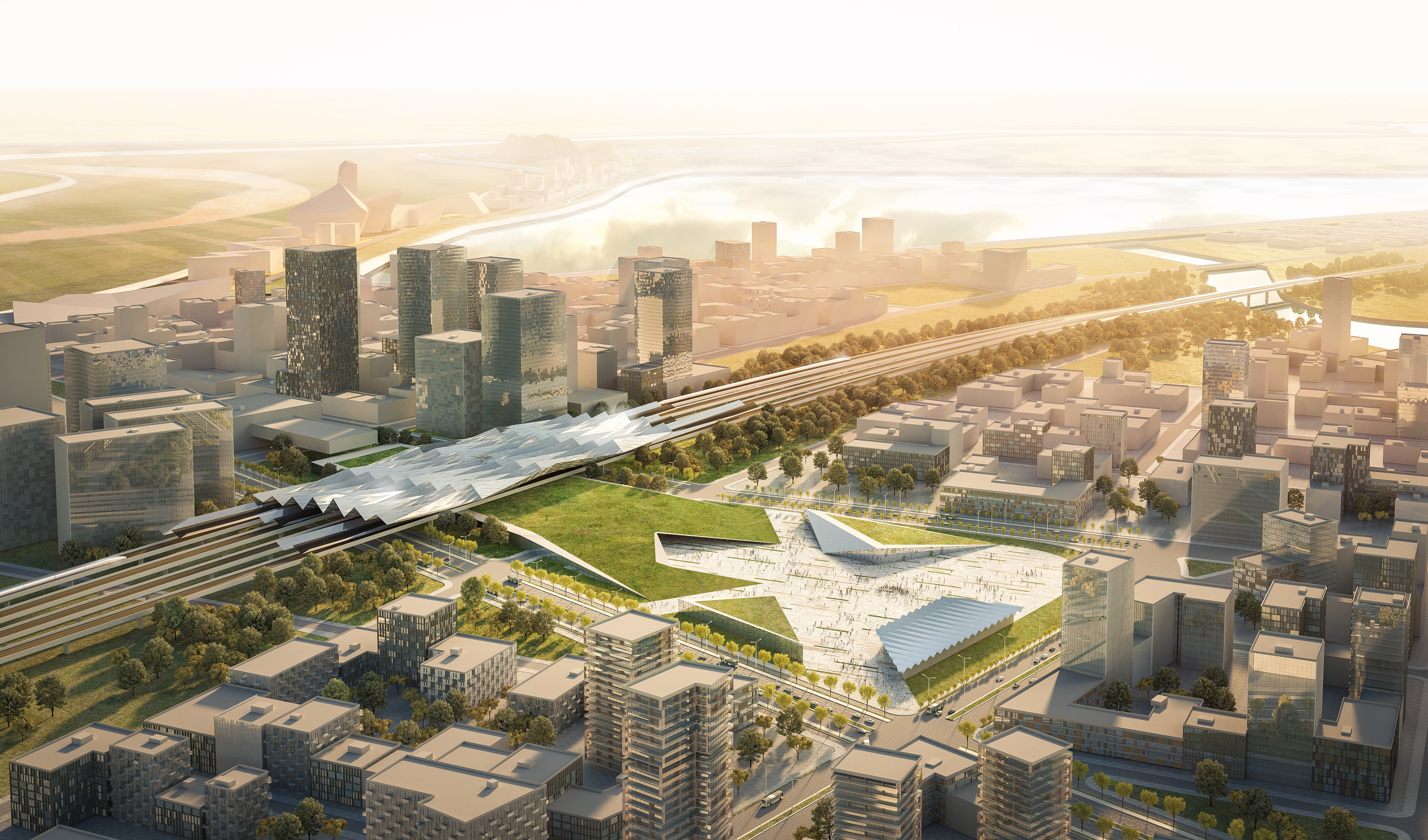 DF_Jinan River North Development_High Speed Station.jpg.jpg