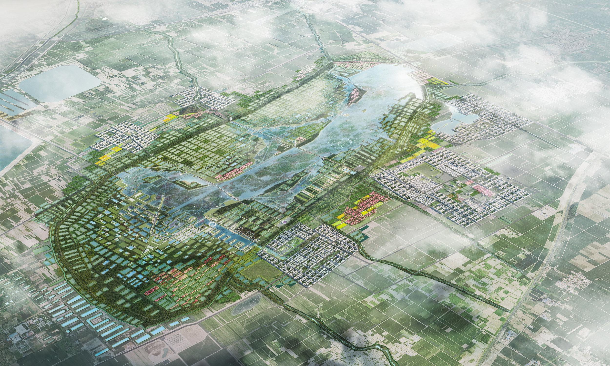 ....BAIYUN LAKE WETLAND PARK MASTERPLAN AND SANHU AREA URBAN DESIGN..    白云湖湿地公园整体规划设计及三湖片区城市设计....