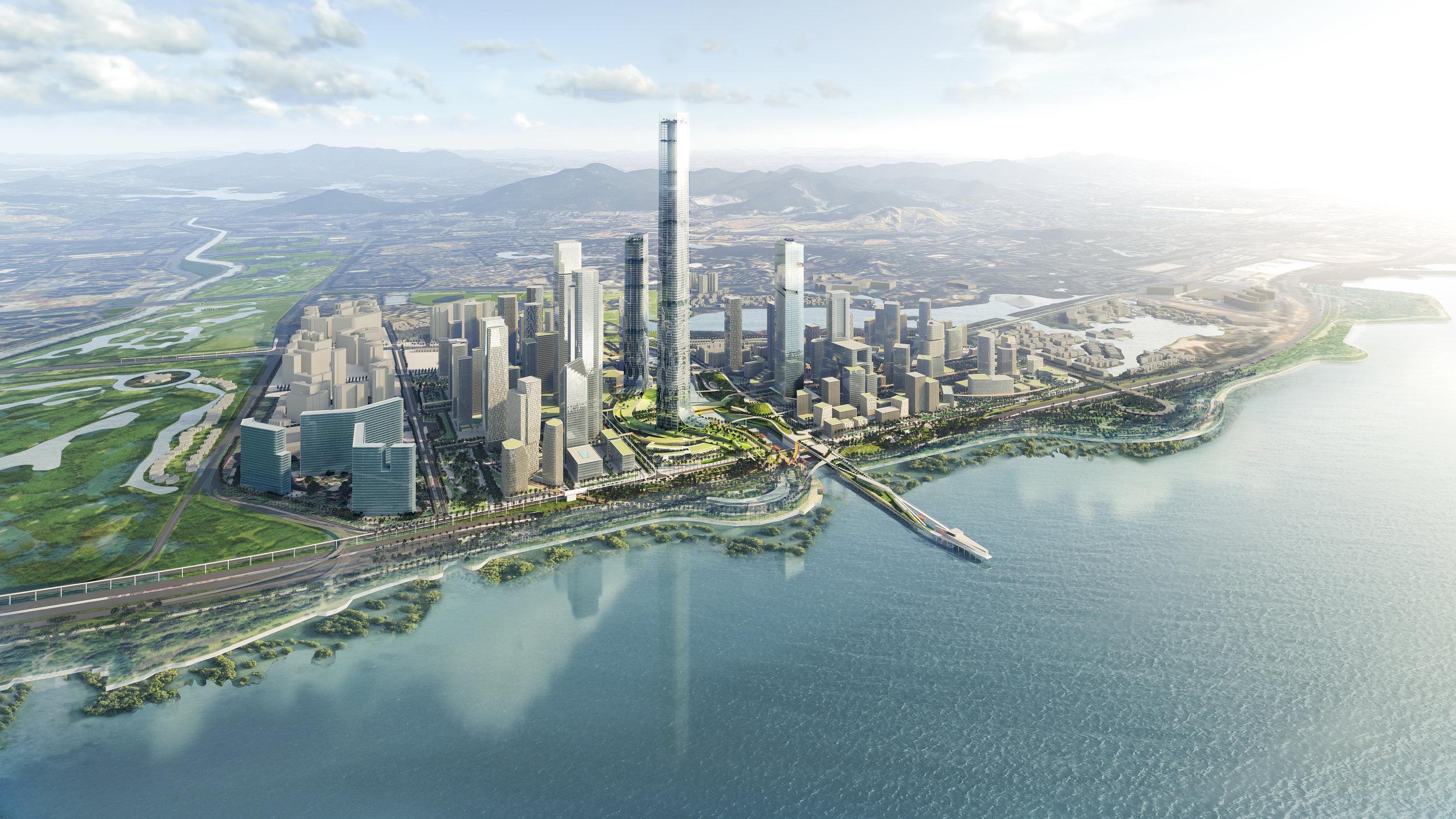 ....SHENZHEN BAY SUPER HEADQUARTER BASE URBAN DESIGN ..    深圳湾超级总部基地城市设计....