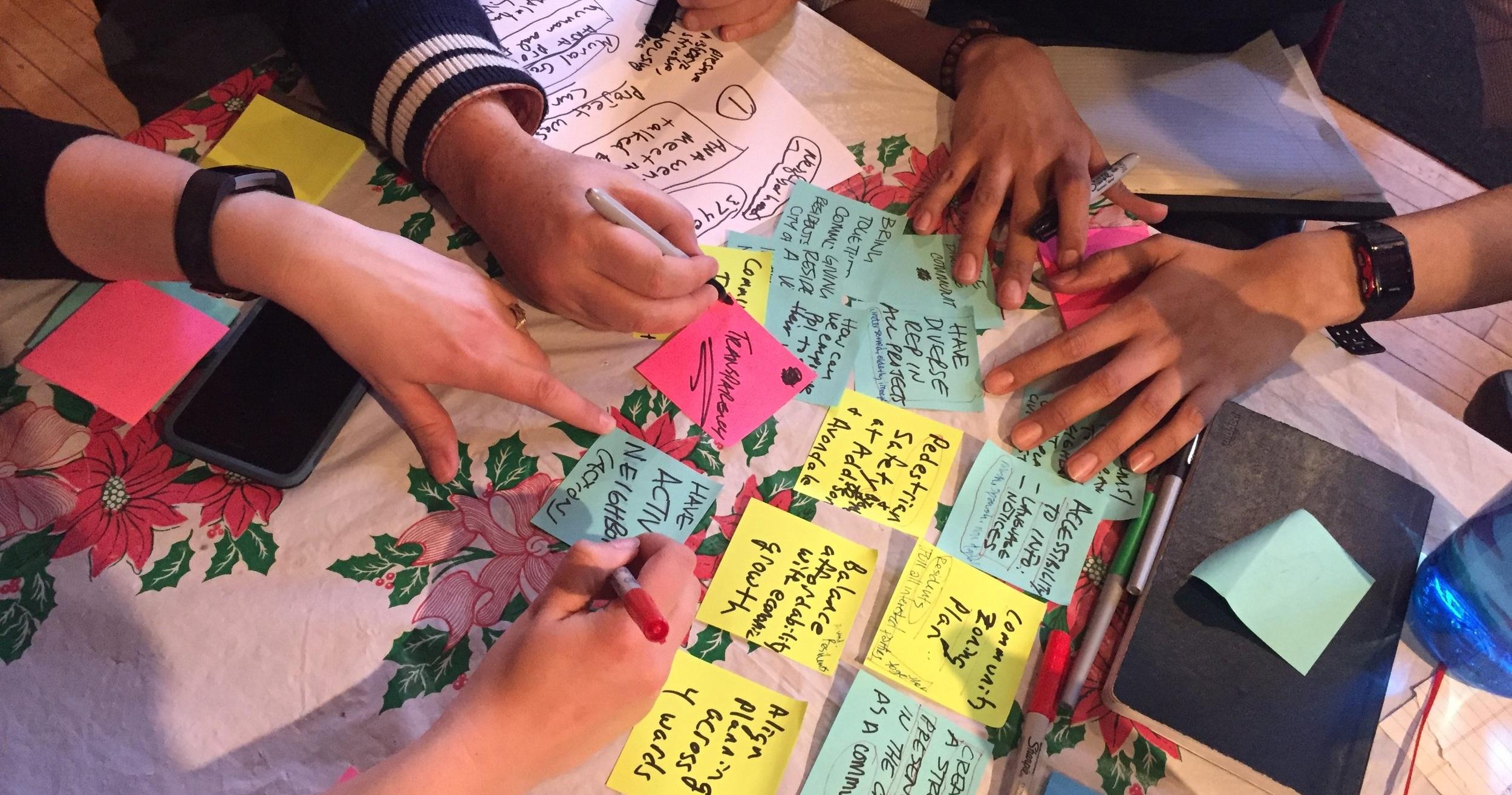 Ideators love post it notes!