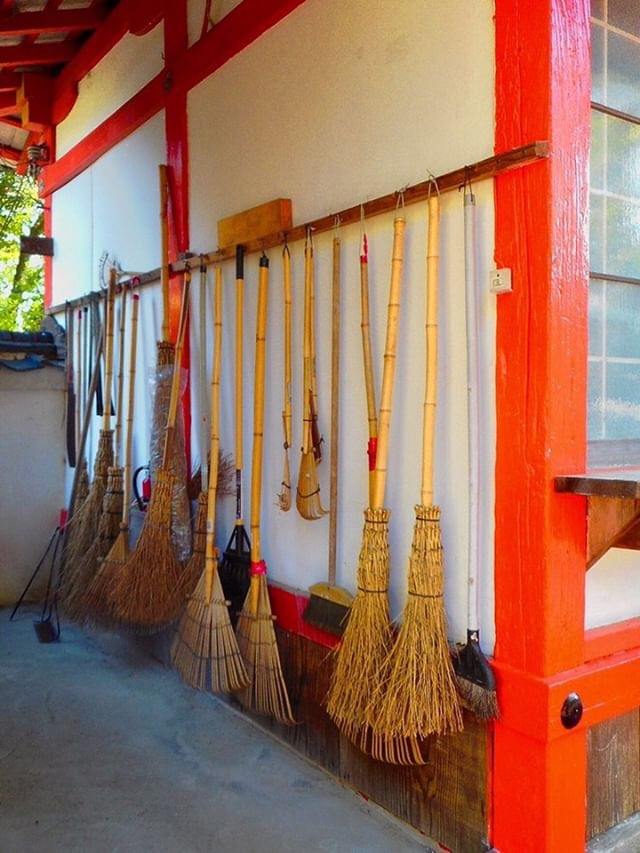 - This observation was sent to us by @kinkicycle at local shrine in Nara, Japan. We really like this unintentional display of brooms. They rakes caught our eye, too!