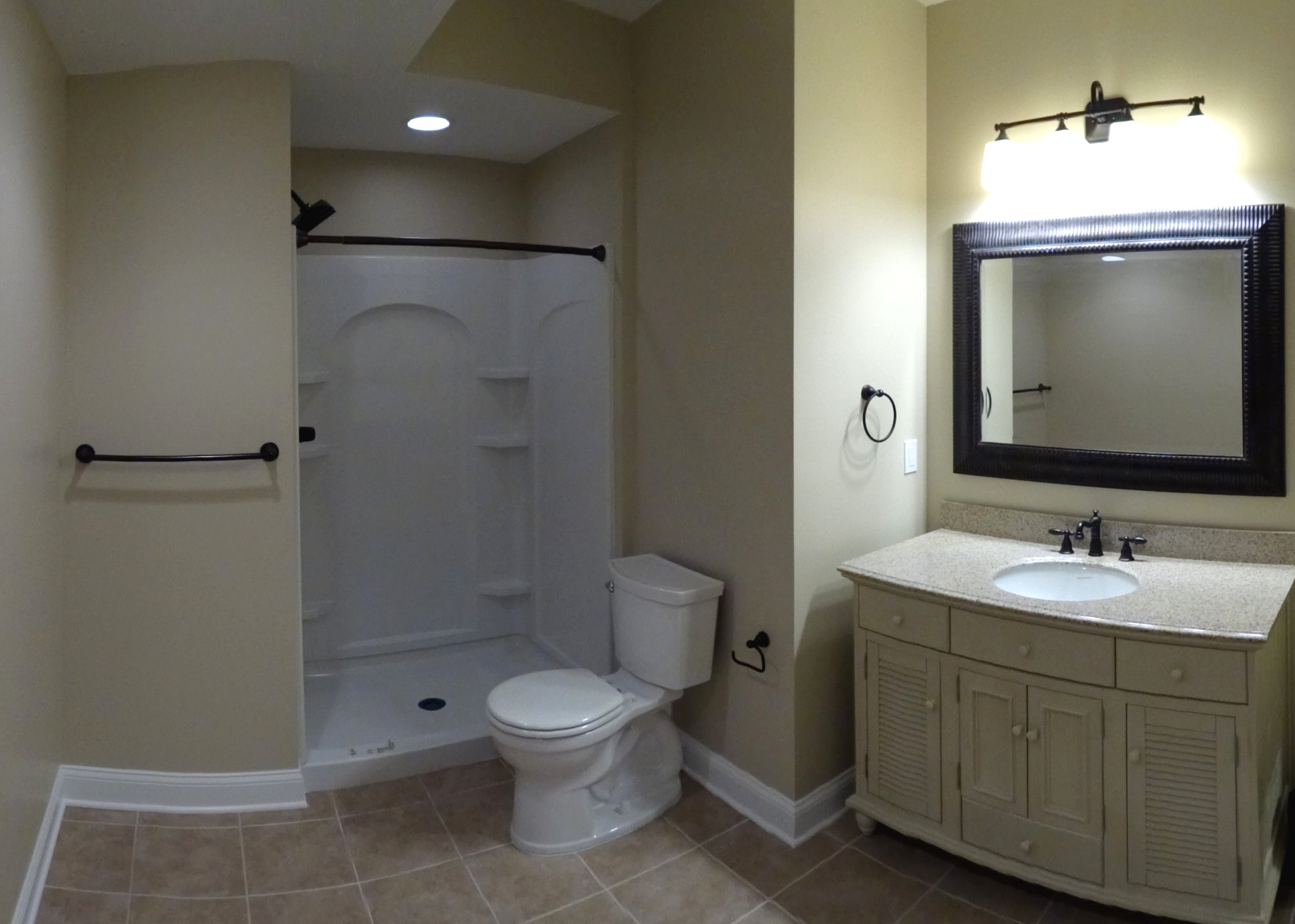 Basement bathroom in Avon, OH