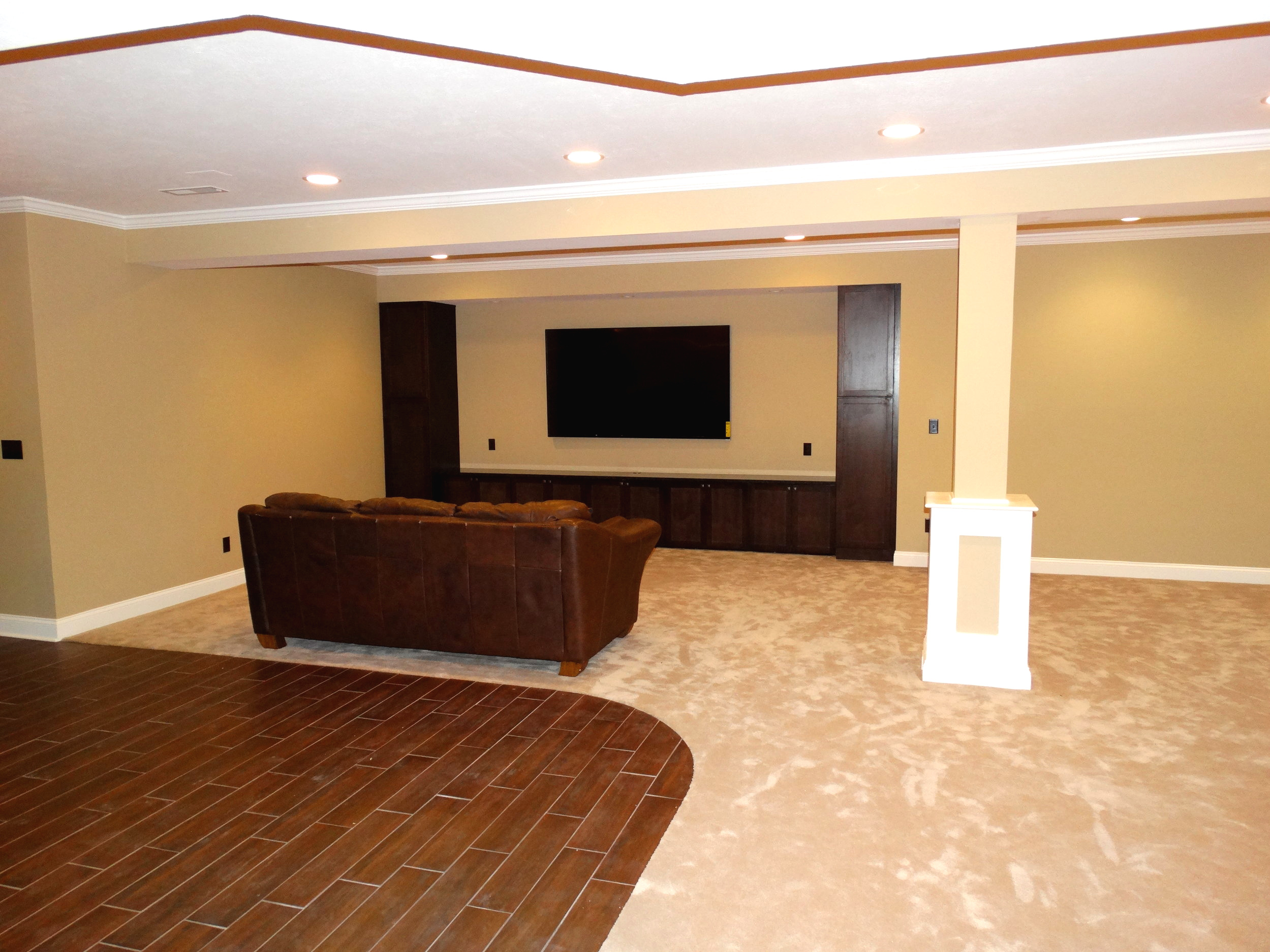 Custom built-in entertainment center in Avon, OH