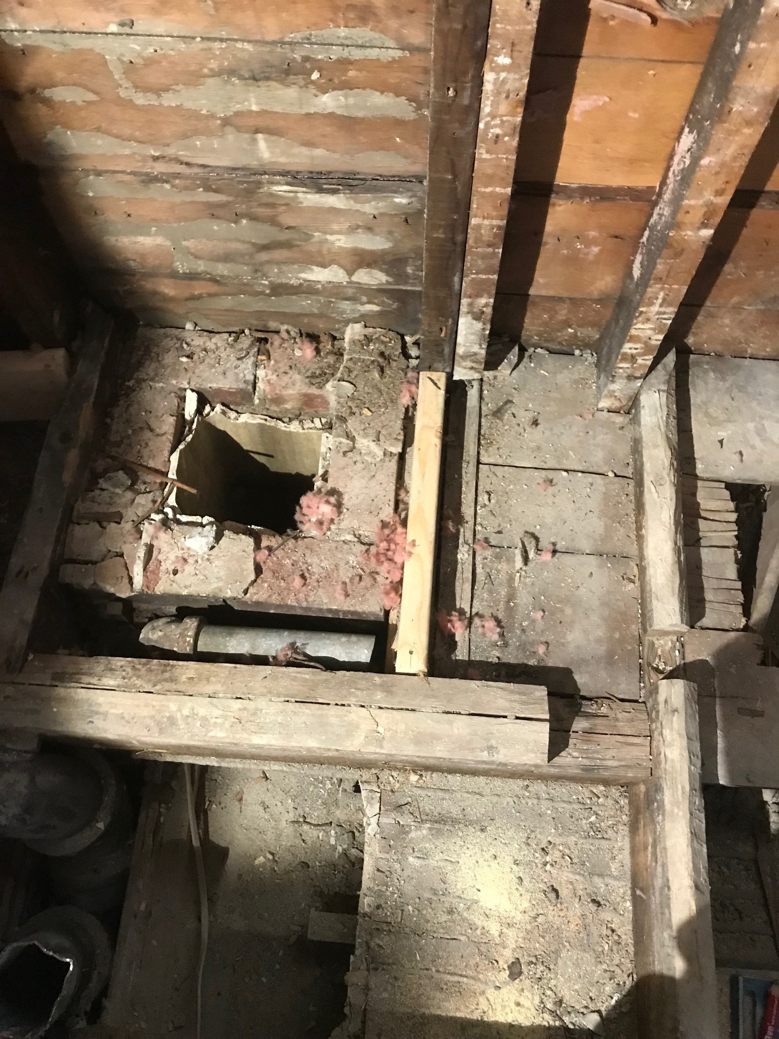 Removed Chimney - Repaired Water Damage