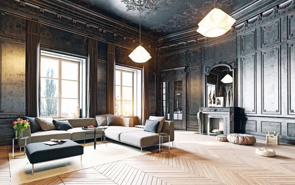 Modern and Antique offer juxtaposition in a space creating intrigue.