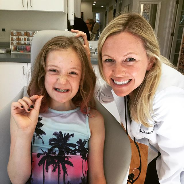 Olivia came in for her check up and left with her baby tooth in her hand! Good job wiggling it out 🦷 #toothfairytime #westernspringsorthodontist #brightsmilingfutures