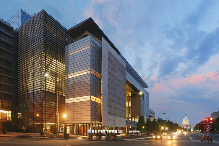 Newseum, Washington, D.C., completed in 2008.