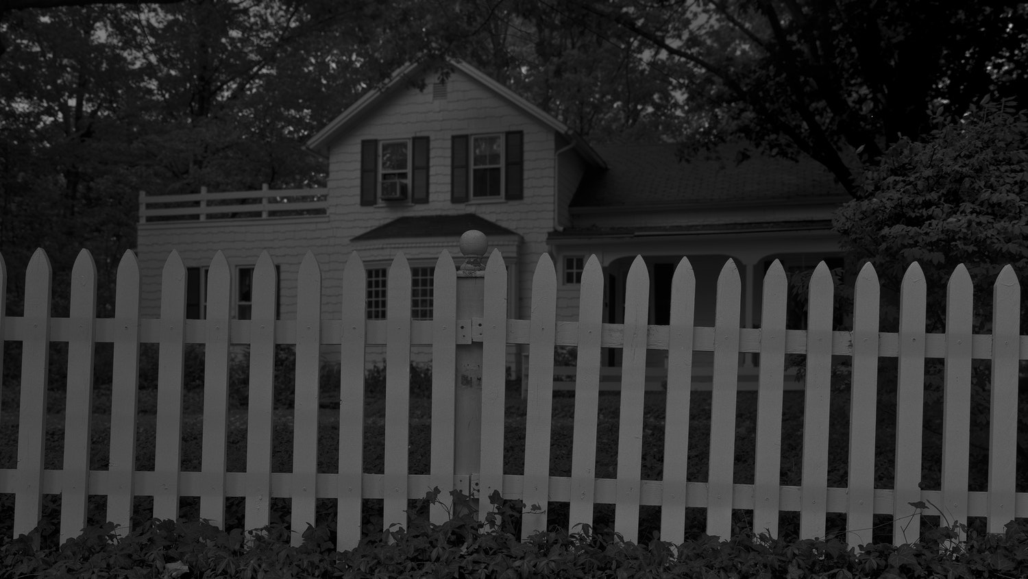 Dawoud Bey.  Untitled #1 (Picket Fence and Farmhouse) , from the series  Night Coming Tenderly, Black , 2017. Rennie Collection, Vancouver. © Dawoud Bey.