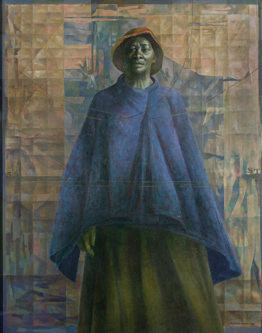 Charles White ,  Mother Courage II , 1974, Oil on canvas, 49 ¾ × 39 ⅞ in.;  National Academy of Design, New York