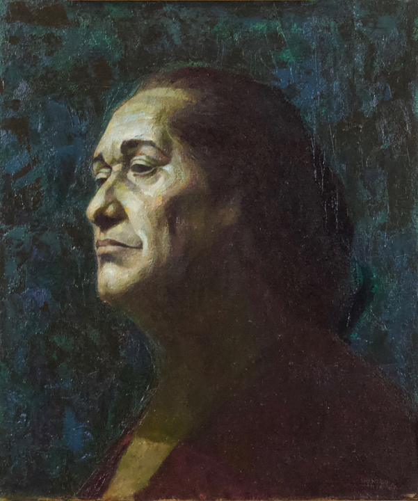 Charles White ,  Matriarch,  1967, Oil on canvas, 20 × 17 in.  National Academy of Design, New York