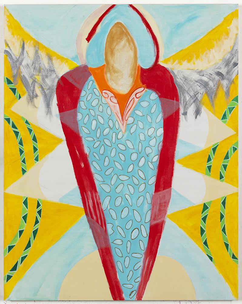 Margrit Lewczuk,  Angel , 2017, Acrylic on linen, 60 x 48 in., photograph by Brian Buckley.