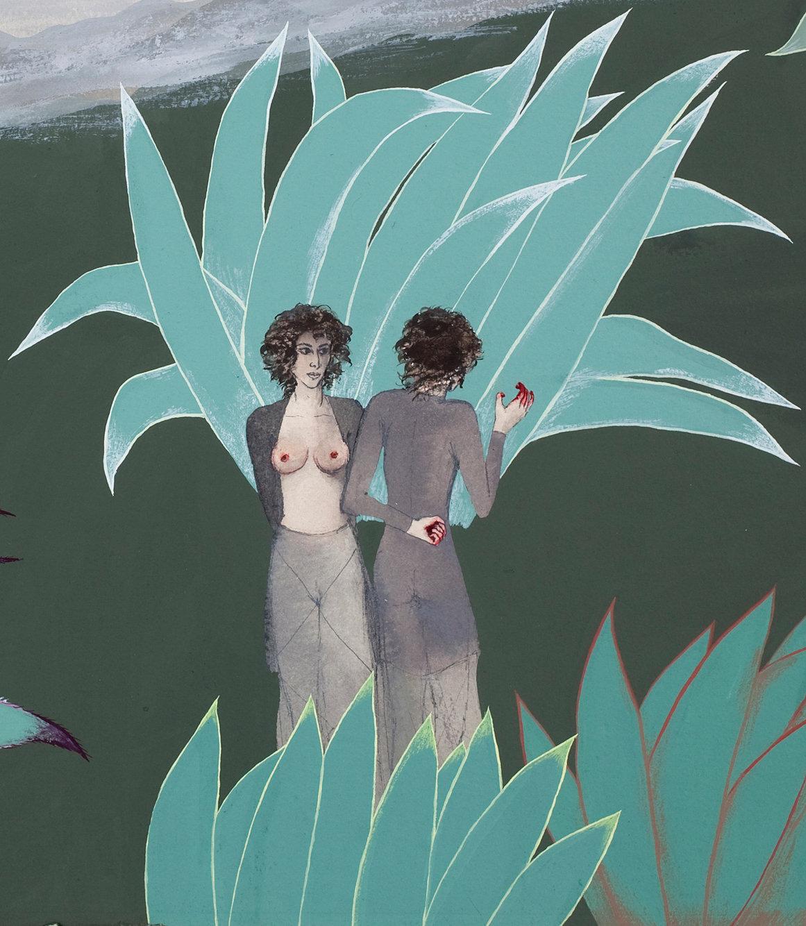 Mira Schor,  The Two Miras , 1972 (detail)