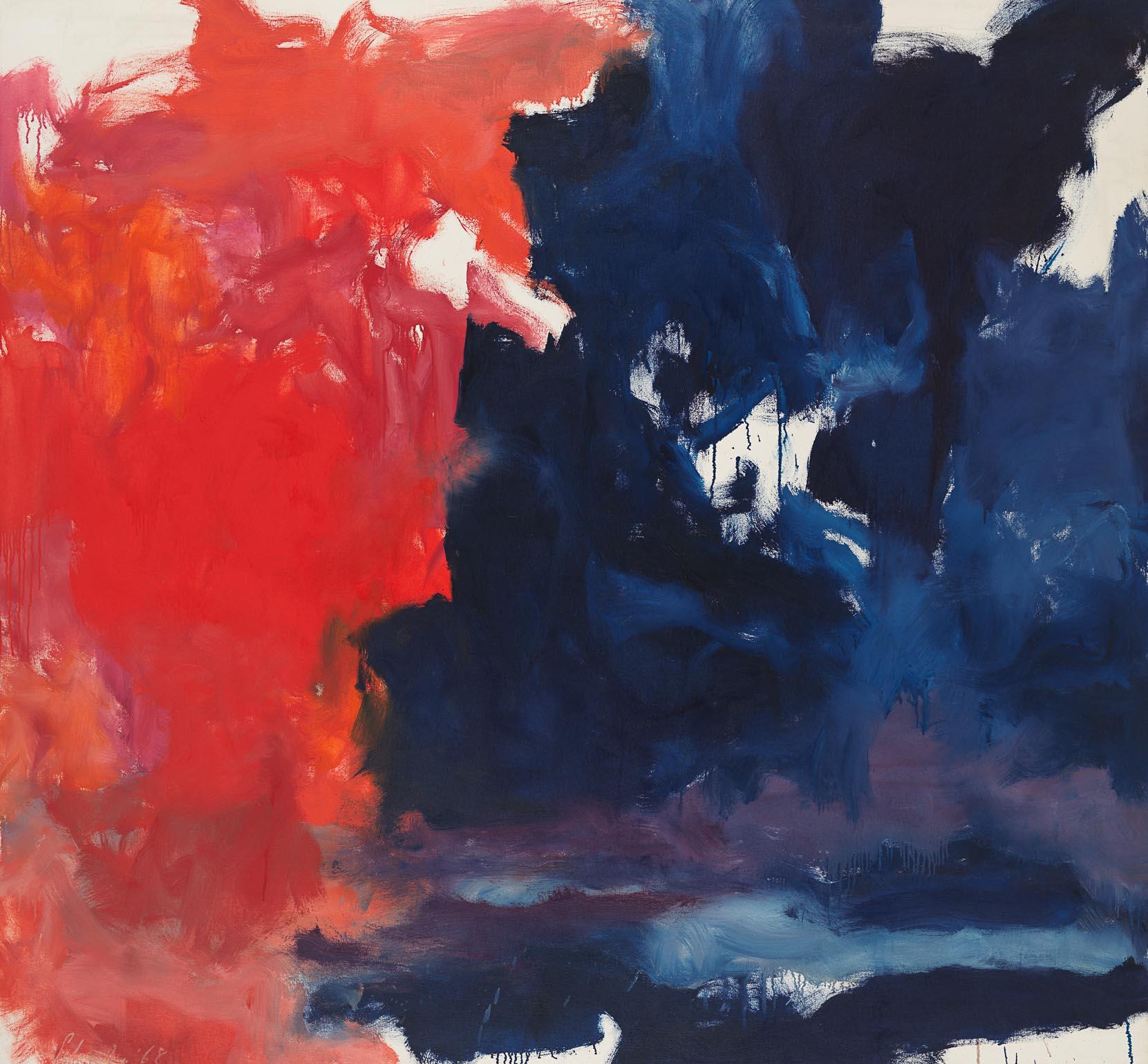 "Jon Schueler, ANA,  ""December '68,""  1968, oil on canvas, 71 x 76.5 in."