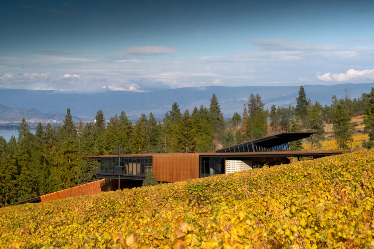 Olson Kundig, Martin's Lane Winery, Kelowna, British Columbia. Photograph by Nic Lehoux