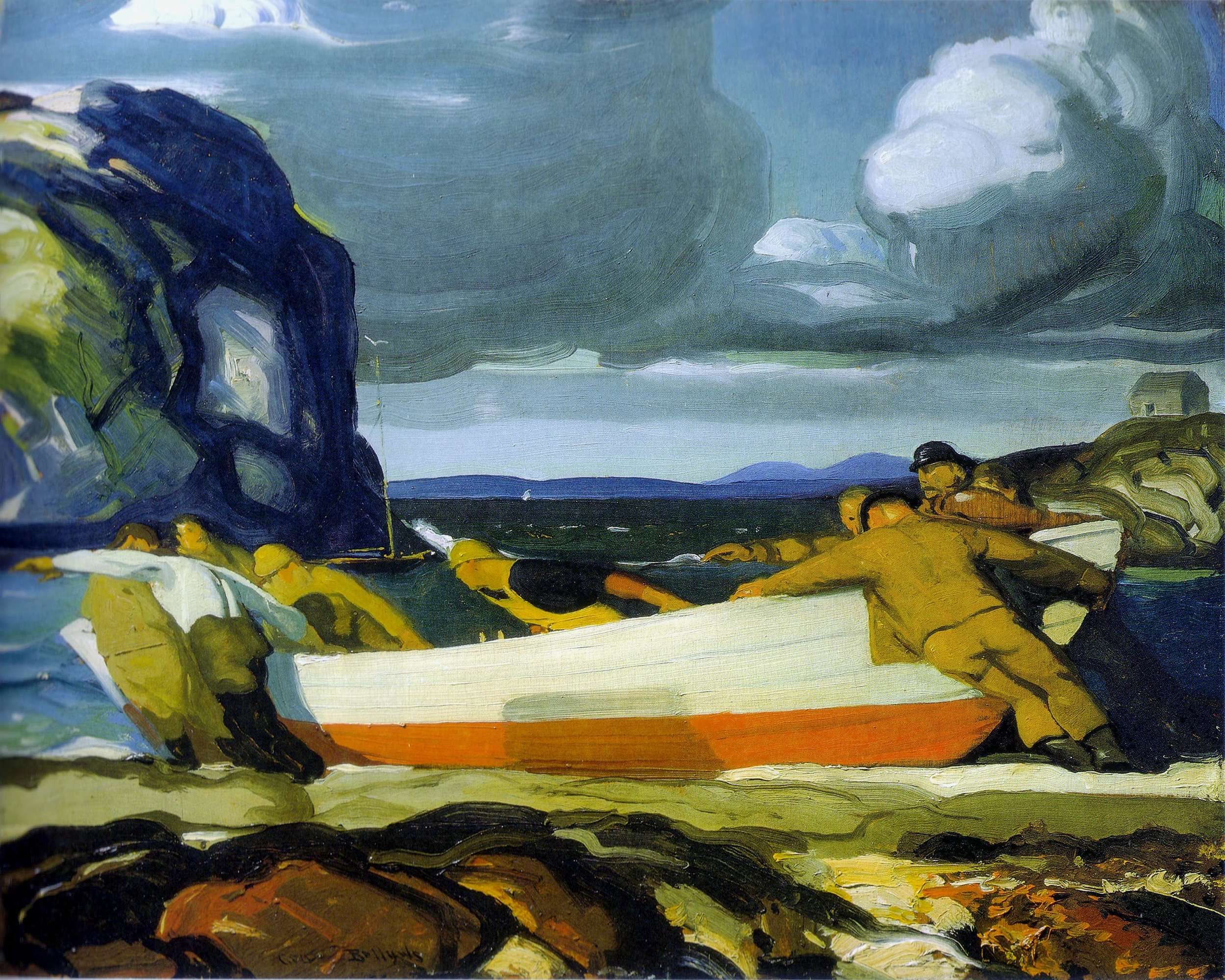 George Wesley Bellows,  The Big Dory , ca. 1913, oil on wood panel