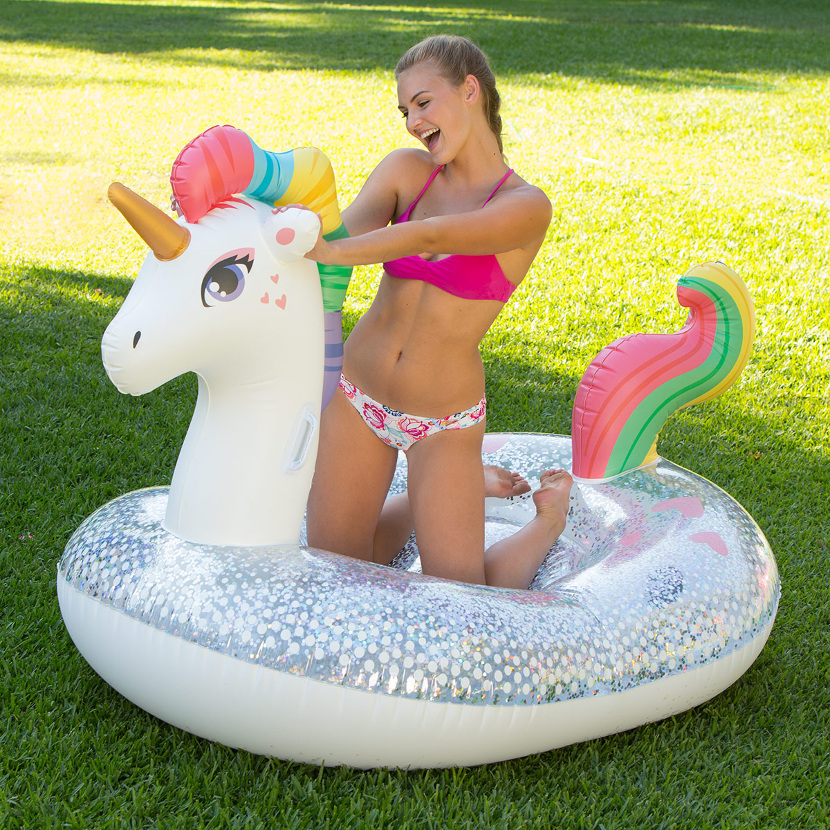Glitter Sparkles Unicorn Float |   Available at Michaels