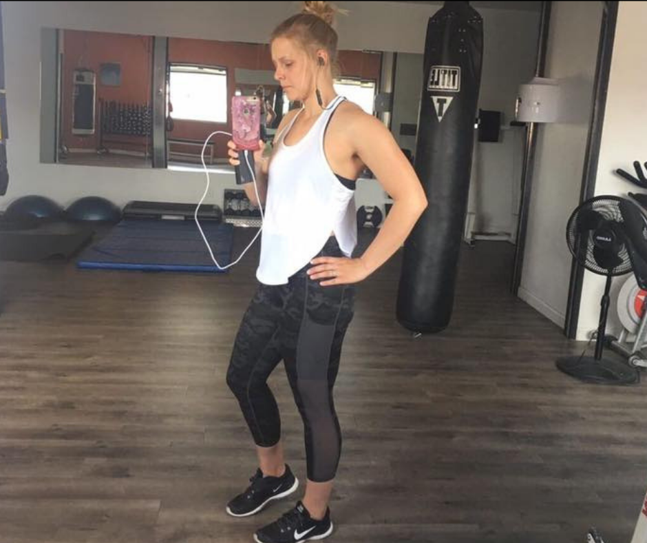 """It takes a strong BOSS of a woman to work hard in the gym and at life,"" -"
